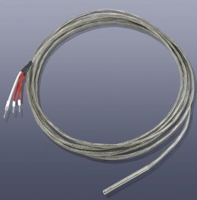 KM-TP2 - Pt100 teplotní čidlo, průměr 4 x 50 mm, nerez plášť V2A do 450°C, bez koncovky