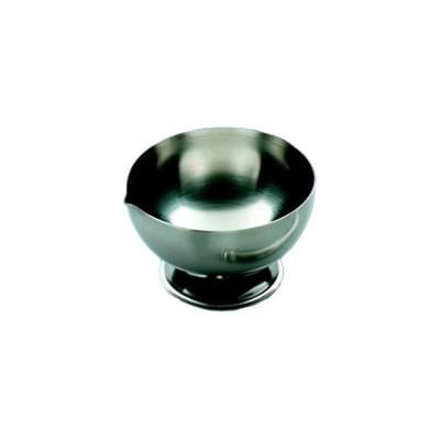 Třecí nerezová miska, průměr 90 - 100 mm